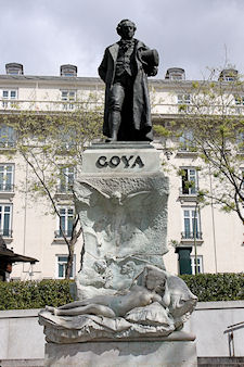 Statue of Francisco Goya at the Prado